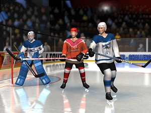 A rendering from the project: Icehockey