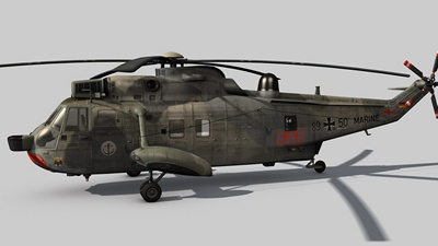 A rendering of a Sea King MK41
