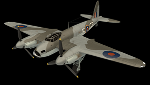 A rendering of a de Havilland Mosquito