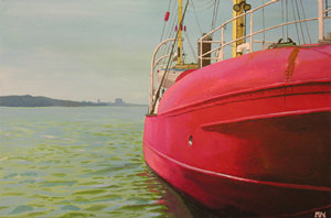 A painting named Feuerschiff Elbe 3